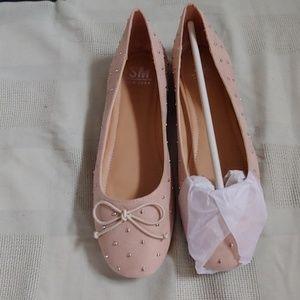 SM NEW YORK blush pink ballet flats new